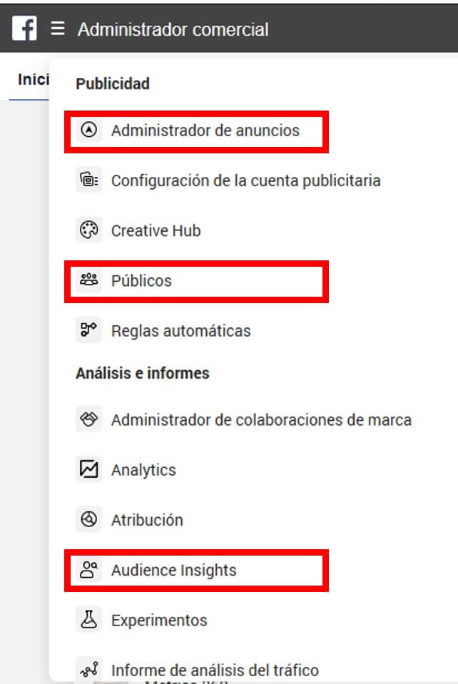 Segmentación de públicos en Facebook Business Manager