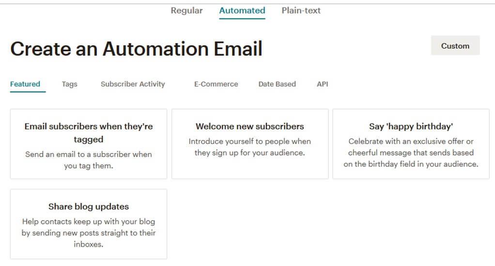 Automatizar Email con Mailchimp