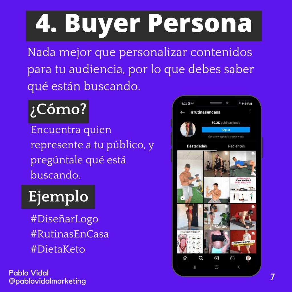 Buyer persona en Instagram